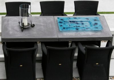 Betonnen tafel bovenaanzicht