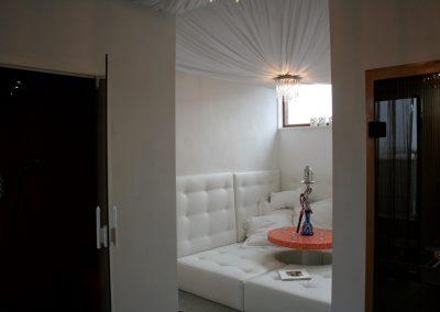Sauna met loungehoek