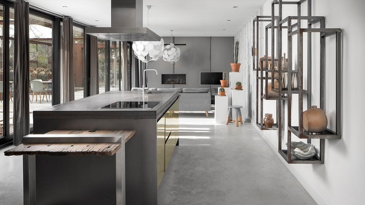 Stalen-Boshuis-Interieur-keuken